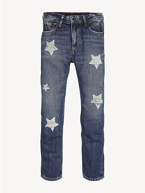 TOMMY HILFIGER Jeans met stervormige distressing - STAR PATCH BLUE RIGID - TOMMY HILFIGER Jeans - main image