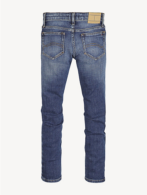 TOMMY HILFIGER Tapered Fit Jeans im Used Look - CRESTON BLUE DESTRUCT STRETCH - TOMMY HILFIGER Jeans - main image 1