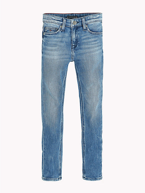 TOMMY HILFIGER Faded Stretch Cotton Jeans - ATLANTIC BLUE STRETCH - TOMMY HILFIGER Jeans - detail image 1