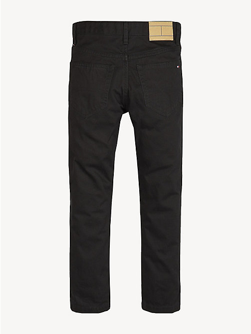 TOMMY HILFIGER Cotton Canvas Jeans - TOMMY BLACK - TOMMY HILFIGER Trousers & Shorts - detail image 1