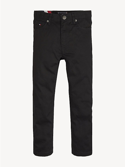 TOMMY HILFIGER Cotton Canvas Jeans - TOMMY BLACK - TOMMY HILFIGER Trousers & Shorts - main image