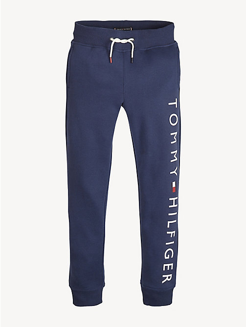 TOMMY HILFIGER Logo Joggers - BLACK IRIS - TOMMY HILFIGER Trousers & Shorts - main image