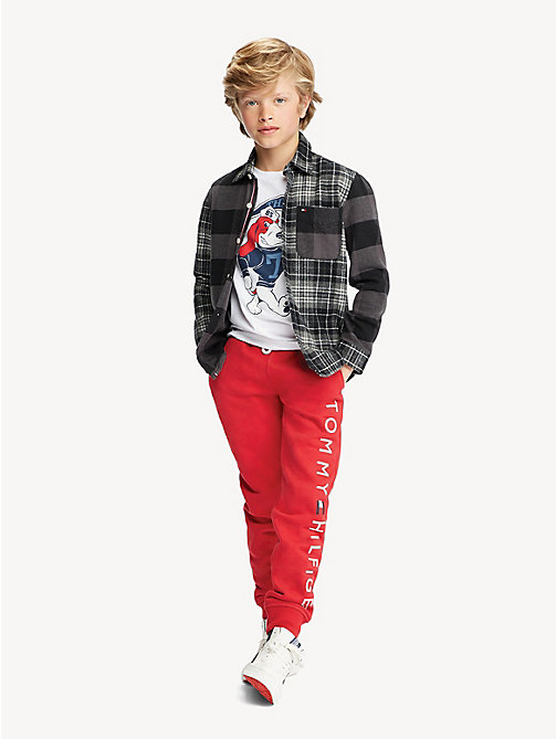 TOMMY HILFIGER Logo Joggers - LYCHEE - TOMMY HILFIGER Trousers & Shorts - main image