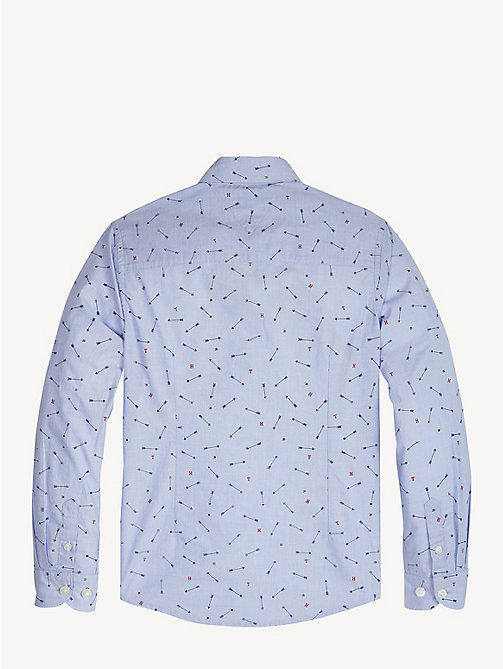 TOMMY HILFIGER Arrow Print Cotton Shirt - SHIRT BLUE - TOMMY HILFIGER Shirts - detail image 1