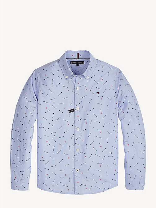 TOMMY HILFIGER Arrow Print Cotton Shirt - SHIRT BLUE - TOMMY HILFIGER Shirts - main image