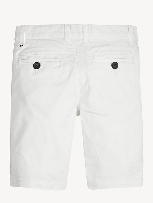 TOMMY HILFIGER Organic Cotton Chino Shorts - BRIGHT WHITE - TOMMY HILFIGER Trousers & Shorts - detail image 1