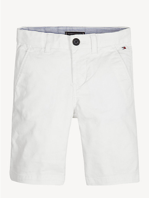 TOMMY HILFIGER Organic Cotton Chino Shorts - BRIGHT WHITE - TOMMY HILFIGER Trousers & Shorts - main image
