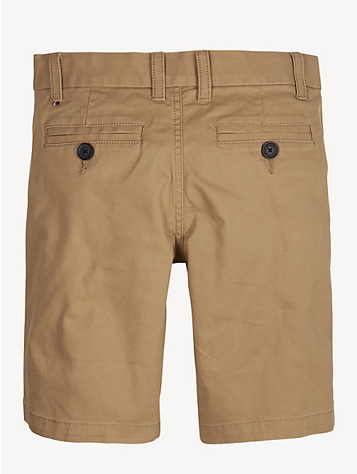 TOMMY HILFIGER Organic Cotton Chino Shorts - TIGER'S EYE - TOMMY HILFIGER Trousers & Shorts - detail image 1