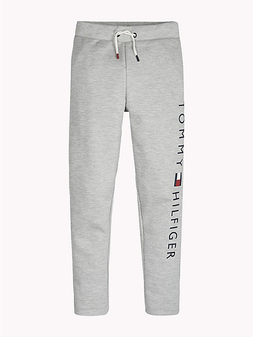 TOMMY HILFIGER Logo Drawstring Joggers - GREY HEATHER - TOMMY HILFIGER Sports Capsule - main image