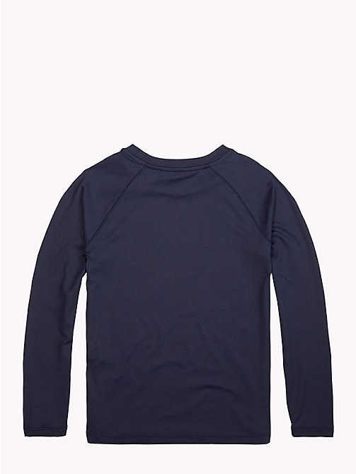 TOMMY HILFIGER Long-Sleeve Crew Neck Logo T-Shirt - BLACK IRIS - TOMMY HILFIGER Sports Capsule - detail image 1