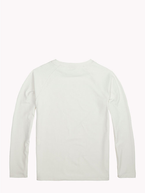 TOMMY HILFIGER Long-Sleeve Crew Neck Logo T-Shirt - BRIGHT WHITE - TOMMY HILFIGER Sports Capsule - detail image 1