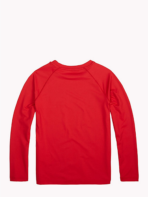 TOMMY HILFIGER Long-Sleeve Crew Neck Logo T-Shirt - APPLE RED - TOMMY HILFIGER Sports Capsule - detail image 1