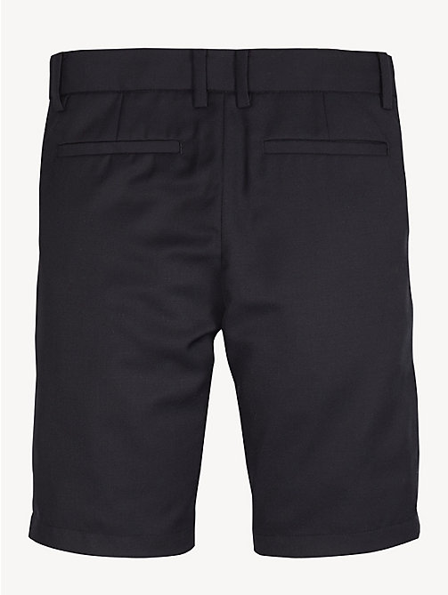 TOMMY HILFIGER Classic Wool Blend Shorts - BLACK IRIS - TOMMY HILFIGER Trousers & Shorts - detail image 1