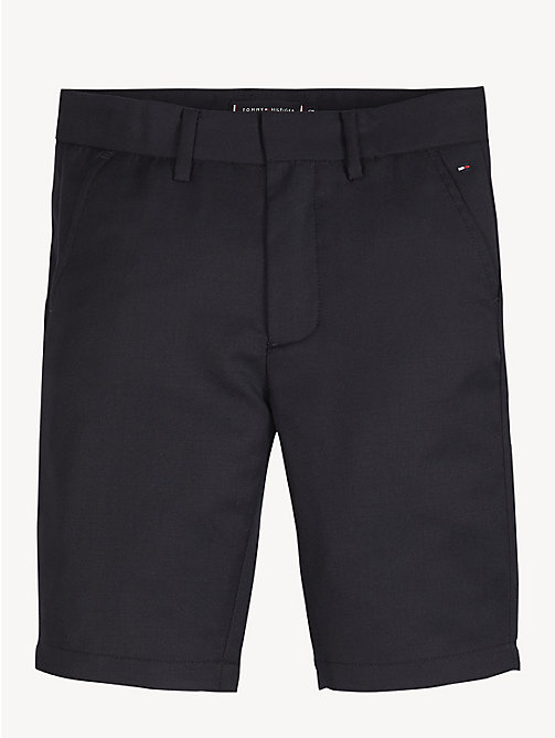 TOMMY HILFIGER Classic Wool Blend Shorts - BLACK IRIS - TOMMY HILFIGER Trousers & Shorts - main image
