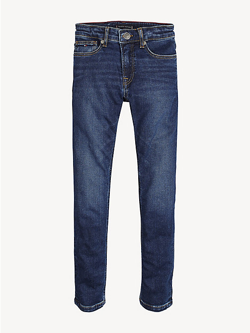 TOMMY HILFIGER Tapered Slim Fit Jeans - HEADLAND DARK BLUE STRETCH - TOMMY HILFIGER Jeans - main image