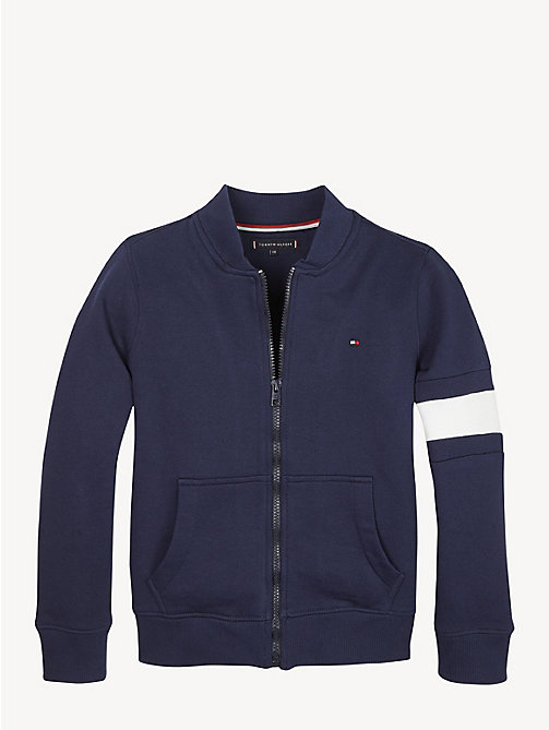 TOMMY HILFIGER Flag Detail Zip-Up Sweatshirt - BLACK IRIS - TOMMY HILFIGER Sweatshirts & Hoodies - main image