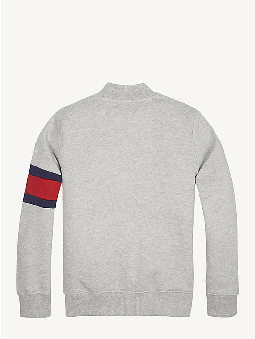 TOMMY HILFIGER Flag Detail Zip-Up Sweatshirt - GREY HEATHER - TOMMY HILFIGER Sweatshirts & Hoodies - detail image 1