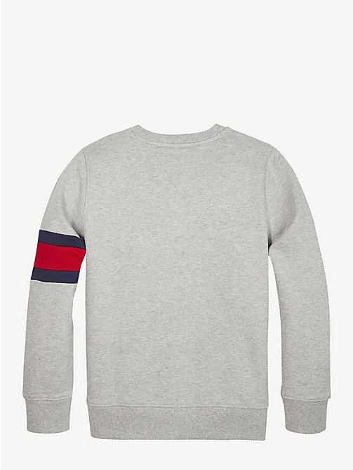 TOMMY HILFIGER Flag Sleeve Sweatshirt - GREY HEATHER - TOMMY HILFIGER Sweatshirts & Hoodies - detail image 1