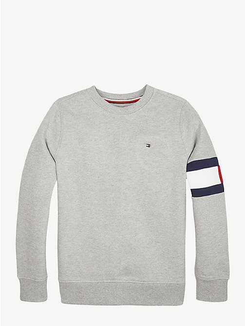 TOMMY HILFIGER Sweatshirt mit Flag am Ärmel - GREY HEATHER - TOMMY HILFIGER Sweatshirts & Kapuzenpullover - main image