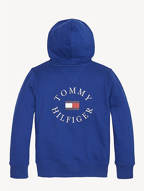 TOMMY HILFIGER Logo Back Zip-Thru Hoody - LIMOGES - TOMMY HILFIGER Sweatshirts & Hoodies - detail image 1