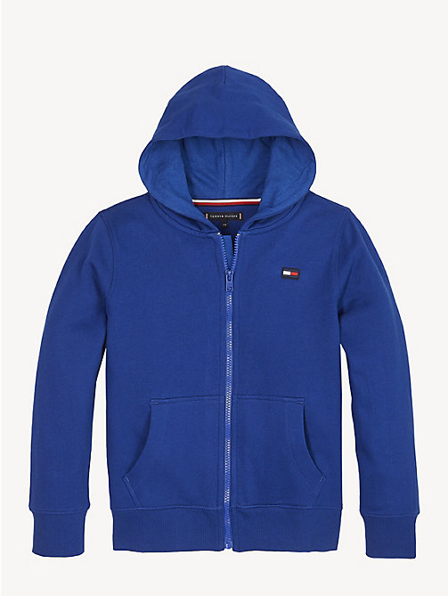 TOMMY HILFIGER Logo Back Zip-Thru Hoody - LIMOGES - TOMMY HILFIGER Sweatshirts & Hoodies - main image