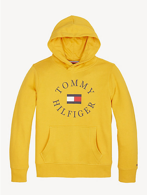 TOMMY HILFIGER Logo Hoody - RADIANT YELLOW - TOMMY HILFIGER Sweatshirts & Hoodies - main image