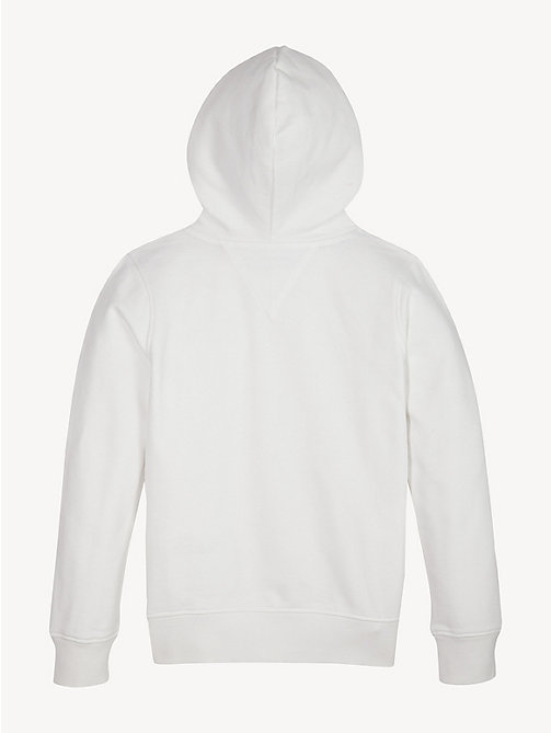 TOMMY HILFIGER Graphic Repeat Logo Cotton Hoody - BRIGHT WHITE - TOMMY HILFIGER Sweatshirts & Hoodies - detail image 1