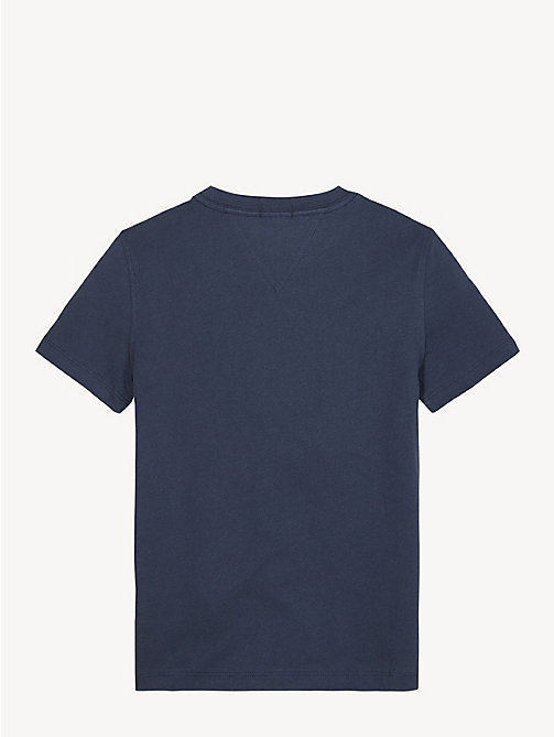 TOMMY HILFIGER Essential logo T-shirt met ronde hals - BLACK IRIS - TOMMY HILFIGER T-shirts & Polo's - detail image 1