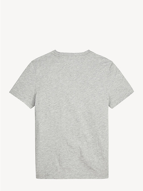 TOMMY HILFIGER Essential Stripe Organic Cotton T-Shirt - GREY HEATHER - TOMMY HILFIGER T-shirts & Polos - detail image 1