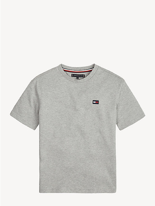 TOMMY HILFIGER Crew Neck Back Logo T-Shirt - GREY HEATHER - TOMMY HILFIGER T-shirts & Polos - main image