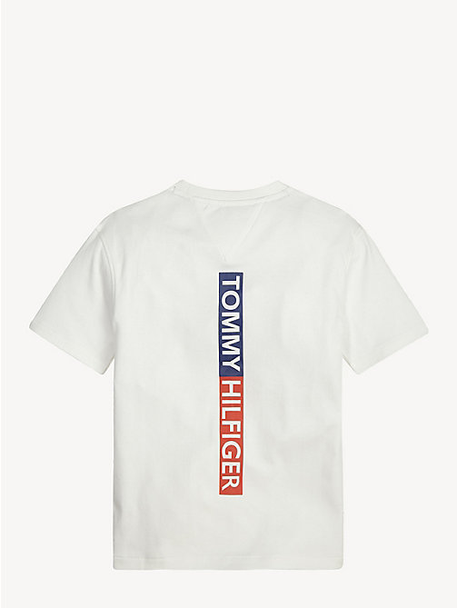 TOMMY HILFIGER Crew Neck Back Logo T-Shirt - BRIGHT WHITE - TOMMY HILFIGER T-shirts & Polos - detail image 1