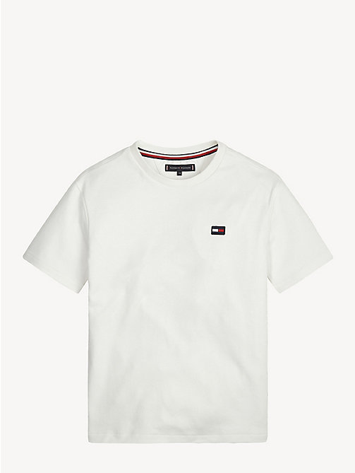 TOMMY HILFIGER Crew Neck Back Logo T-Shirt - BRIGHT WHITE - TOMMY HILFIGER T-shirts & Polos - main image
