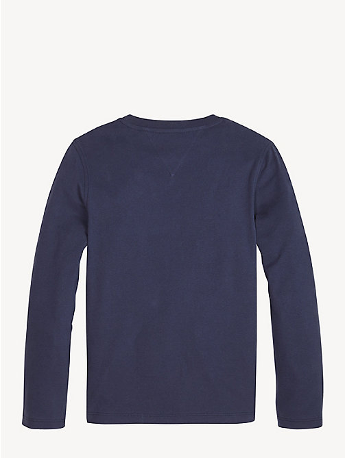 TOMMY HILFIGER Crew Neck Graphic Logo T-Shirt - BLACK IRIS - TOMMY HILFIGER T-shirts & Polos - detail image 1
