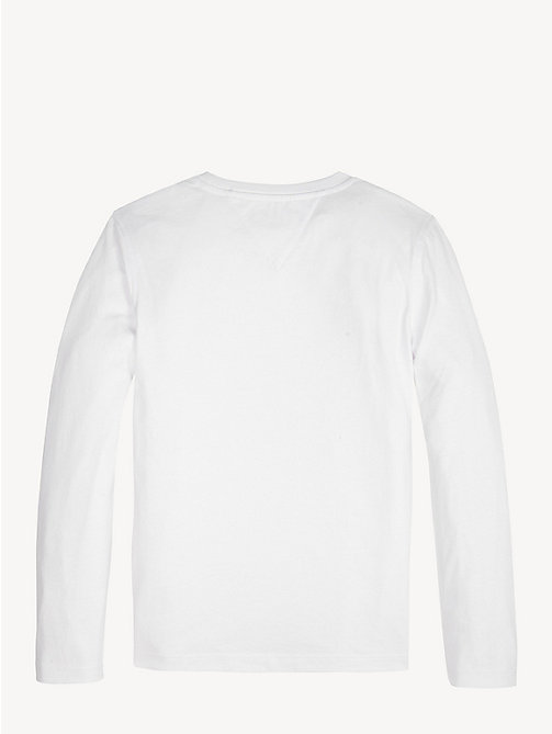 TOMMY HILFIGER Crew Neck Graphic Logo T-Shirt - BRIGHT WHITE - TOMMY HILFIGER T-shirts & Polos - detail image 1