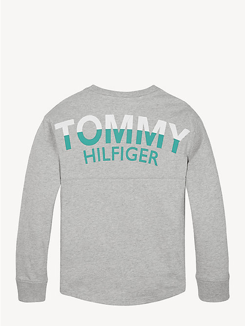 TOMMY HILFIGER Long Sleeve Crew Neck T-Shirt - GREY HEATHER - TOMMY HILFIGER T-shirts & Polos - detail image 1