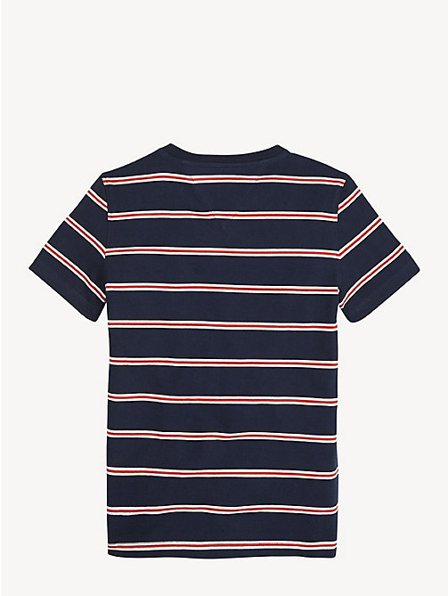TOMMY HILFIGER Pure Cotton Stripe T-Shirt - BLACK IRIS - TOMMY HILFIGER T-shirts & Polos - detail image 1