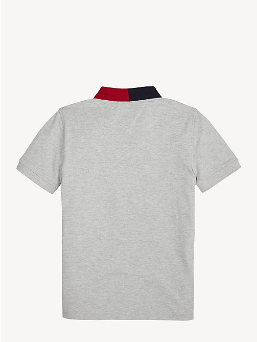 TOMMY HILFIGER Colour-Blocked Polo - GREY HEATHER - TOMMY HILFIGER T-shirts & Polos - detail image 1