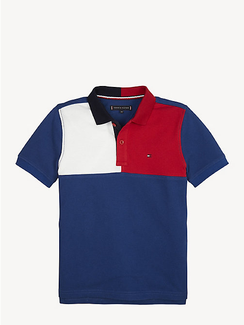 TOMMY HILFIGER Colour-Blocked Polo - LIMOGES - TOMMY HILFIGER T-shirts & Polos - main image