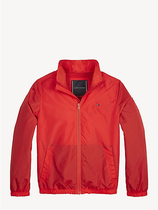 TOMMY HILFIGER Essential Zip-Thru Jacket - FLAME SCARLET - TOMMY HILFIGER Coats & Jackets - main image