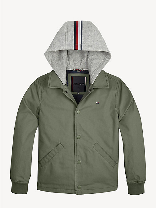 27598a80 TOMMY HILFIGERSignature Tape Hooded Jacket