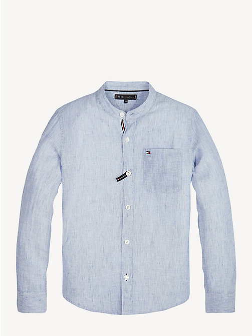 TOMMY HILFIGER Essential Cotton Linen Shirt - LIMOGES - TOMMY HILFIGER Shirts - main image
