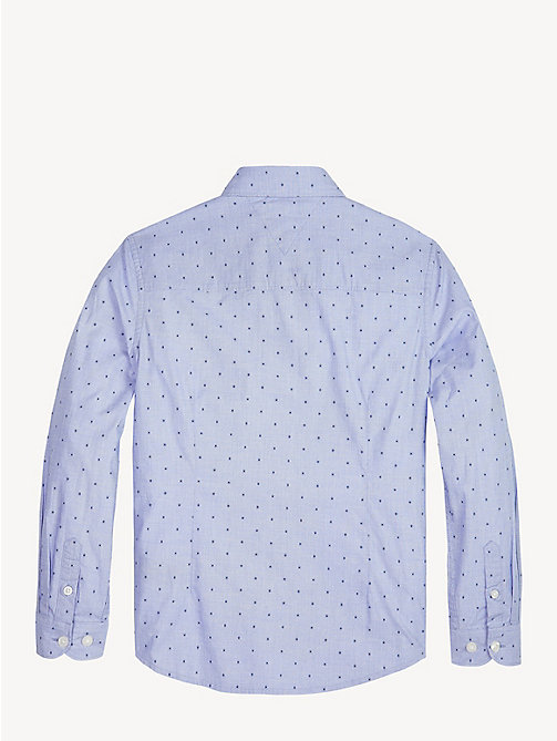 TOMMY HILFIGER Dot Print Button-Down Shirt - SHIRT BLUE - TOMMY HILFIGER Shirts - detail image 1