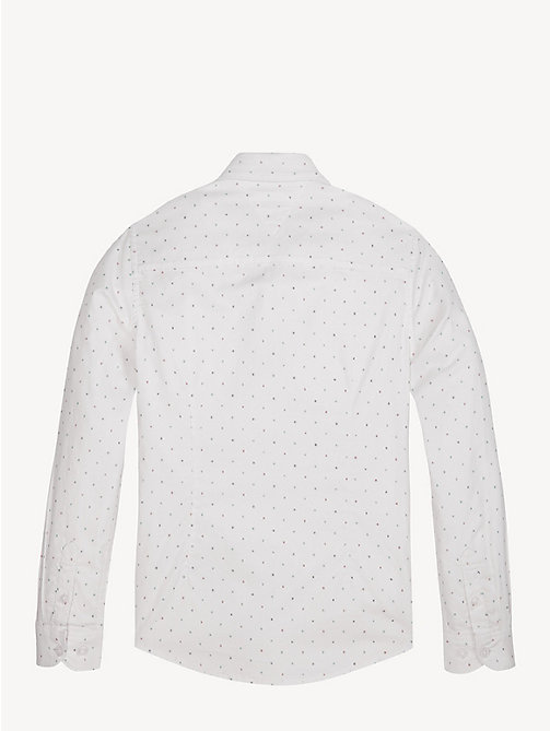 TOMMY HILFIGER Abstract Print Stretch Cotton Shirt - BRIGHT WHITE - TOMMY HILFIGER Shirts - detail image 1
