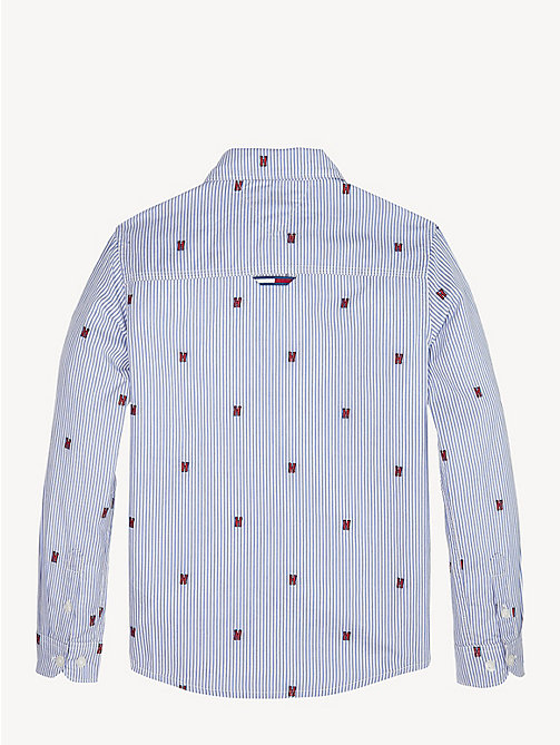TOMMY HILFIGER Embroidered Pure Cotton Shirt - BLACK IRIS - TOMMY HILFIGER Shirts - detail image 1