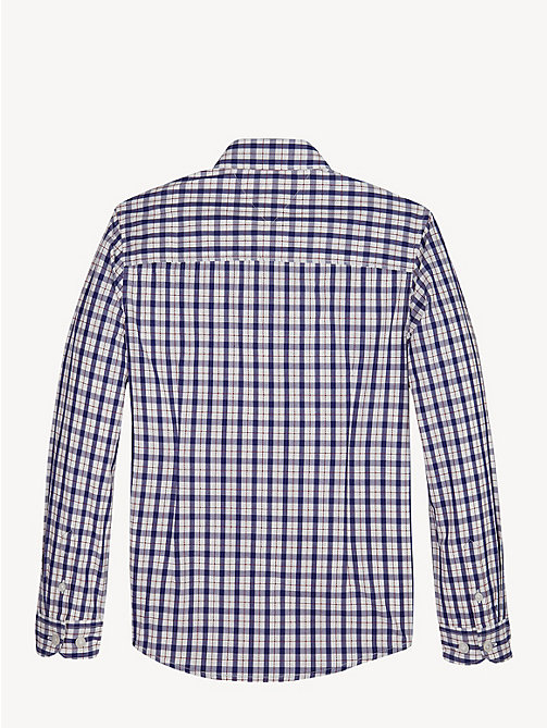 TOMMY HILFIGER Plaid Check Pure Cotton Shirt - BLACK IRIS - TOMMY HILFIGER Shirts - detail image 1
