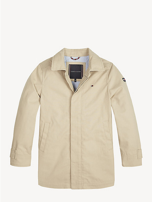 TOMMY HILFIGER Essential Cotton Mac Coat - WHITE PEPPER - TOMMY HILFIGER Coats & Jackets - detail image 1