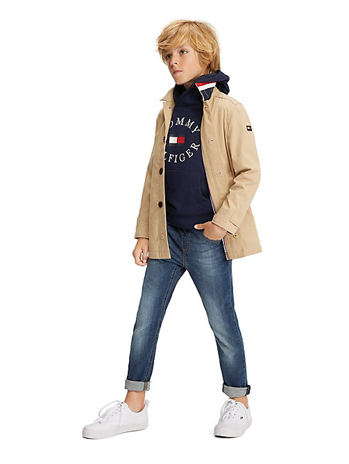 TOMMY HILFIGER Essential Cotton Mac Coat - WHITE PEPPER - TOMMY HILFIGER Coats & Jackets - main image