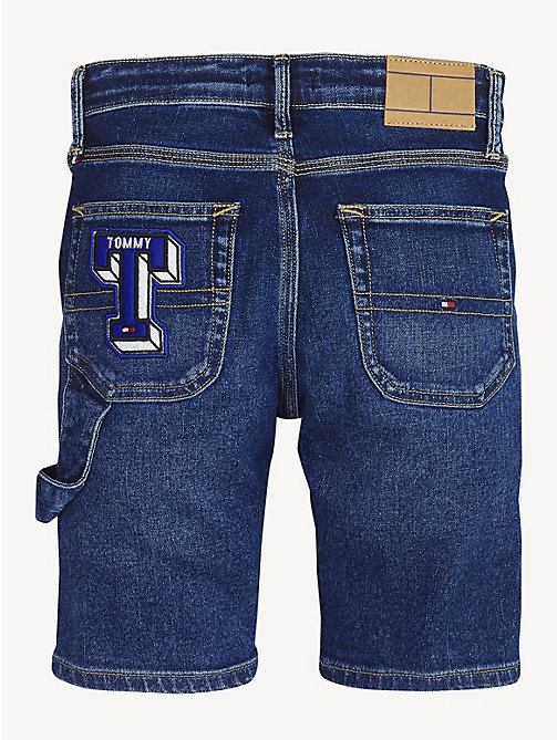 TOMMY HILFIGER Patch Carpenter Shorts - HEADLAND BADGES MID BLUE STRETCH - TOMMY HILFIGER Trousers & Shorts - detail image 1