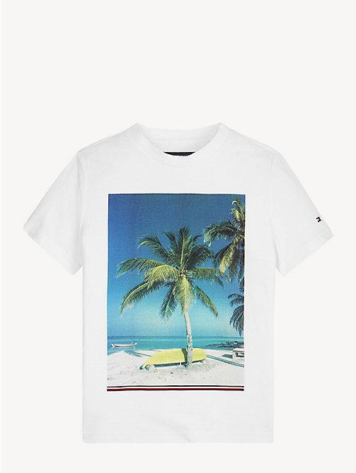 132ffdcc1750b TOMMY HILFIGERT-shirt en coton bio à imprimé feuilles tropicales