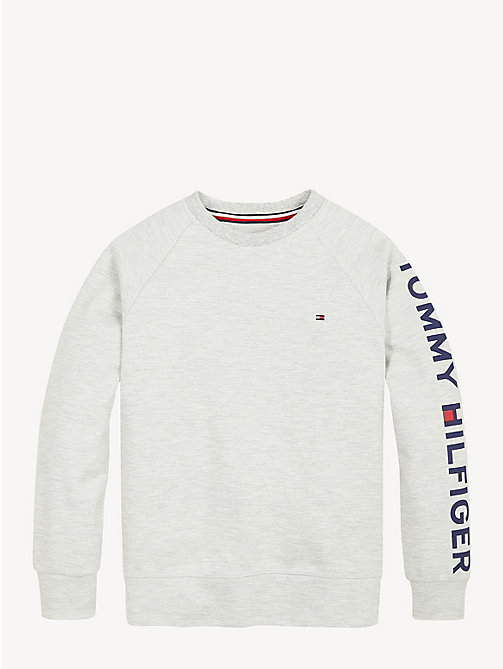 TOMMY HILFIGER Sweat à logo col ras-du-cou - GREY HEATHER - TOMMY HILFIGER Sweats - image détaillée 1